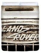 1952 Land Rover 80 Grille  Emblem -0988s2 Duvet Cover