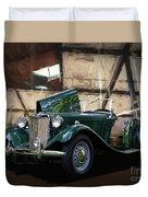 1952 Mg Td Roadster Sports Car Duvet Cover