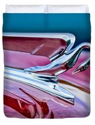 1952 Packard 400 Hood Ornament Duvet Cover