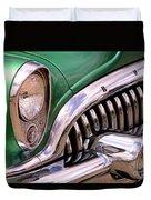 1953 Buick Chrome Duvet Cover