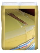 1953 Chevrolet Bel Air Hood Ornament Duvet Cover by Jill Reger