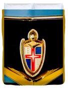 1953 Lincoln Capri Emblem Duvet Cover