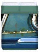 1953 Studebaker Champion Starliner Abstract Duvet Cover