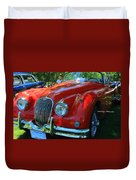 1953 Xk 150 Jaguar Duvet Cover