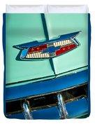1954 Chevrolet Belair Emblem Duvet Cover