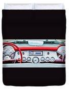 1954 Chevrolet Corvette Dashboard Duvet Cover