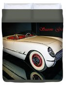 1954 Chevrolet Corvette Convertible Duvet Cover