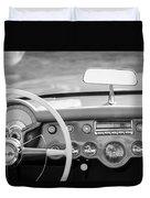 1954 Chevrolet Corvette Steering Wheel -368bw Duvet Cover