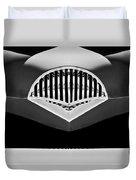 1954 Kaiser Darrin Grille Black And White Duvet Cover