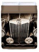 1954 Mg Tf Grille Emblem -0165s Duvet Cover