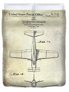 1955  Airplane Patent Drawing 2 Duvet Cover