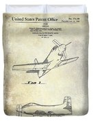 1955  Airplane Patent Drawing Duvet Cover
