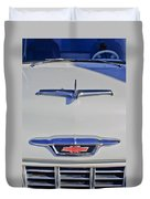 1955 Chevrolet 3100 Hood Ornament Duvet Cover