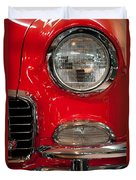 1955 Chevy Bel Air Headlight Duvet Cover by Sebastian Musial