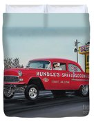 1955 Chevy Gasser Duvet Cover