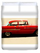 1955 Chevy Duvet Cover by Tom Zukauskas