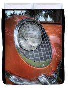 1955 Corvette Headlight Detail Duvet Cover