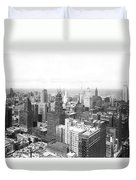 1955 Downtown Chicago Duvet Cover