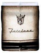 1955 Ford Fairlane Crown Victoria Emblem -1713s Duvet Cover