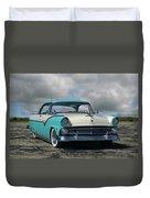 1955 Ford Fairlane Victoria Duvet Cover