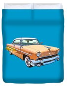 1955 Lincoln Capri Fine Art Illustration  Duvet Cover