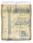 1955 Mccarty Gibson Les Paul Guitar Patent Artwork Vintage Duvet Cover