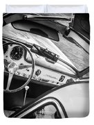 1955 Mercedes-benz 300sl Gullwing Steering Wheel - Race Car -0329bw Duvet Cover