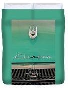 1955 Packard Clipper Hood Ornament Duvet Cover