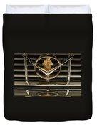 1955 Packard Hood Ornament Emblem Duvet Cover