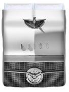 1956 Buick Special Hood Ornament - Emblem -0538bw Duvet Cover