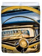 1956 Cadillac Steering Wheel Duvet Cover