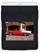 1956 Chevrolet Belair Convertible Duvet Cover
