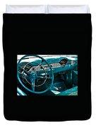 1956 Chevrolet Belair Interior Hdr No 1 Duvet Cover
