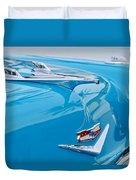 1956 Chevrolet Belair Nomad Hood Ornament Duvet Cover