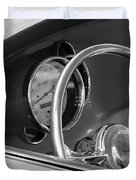 1956 Chrysler Hot Rod Steering Wheel Duvet Cover by Jill Reger