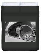 1956 Chrysler Hot Rod Steering Wheel Duvet Cover