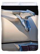 1956 Chrysler Soaring Falcon Hood Ornament Duvet Cover