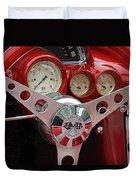 1956 Corvette Dashboard Duvet Cover