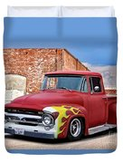 1956 Ford F100 'brickyard' Pickup Duvet Cover