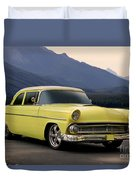 1956 Ford Fairlane Club Coupe Duvet Cover