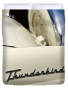 1956 Ford Thunderbird Spare Tire Duvet Cover