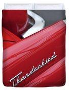 1956 Ford Thunderbird Taillight Emblem 2 Duvet Cover