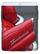 1956 Ford Thunderbird Taillight Emblem 2 Duvet Cover