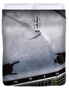1956 Lincoln Continental Mark II Hess And Eisenhardt Convertible Grille Emblem - Hood Ornament -0126 Duvet Cover