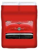 1956 Oldsmobile Hood Ornament 4 Duvet Cover by Jill Reger