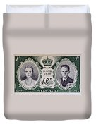 1956 Princess Grace Of Monaco Stamp II Duvet Cover