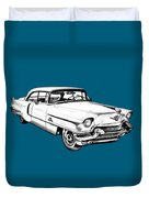 1956 Sedan Deville Cadillac Car Illustration Duvet Cover