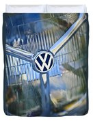 1956 Volkswagen Vw Bug Head Light Duvet Cover