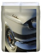 1957 Cadillac Front End Duvet Cover