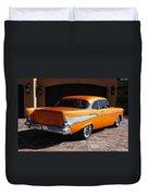 1957 Chevrolet Belair Coupe Duvet Cover